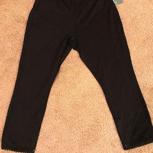 NWT Lysse Cameo Crop Legging Black - 1641 size 1X